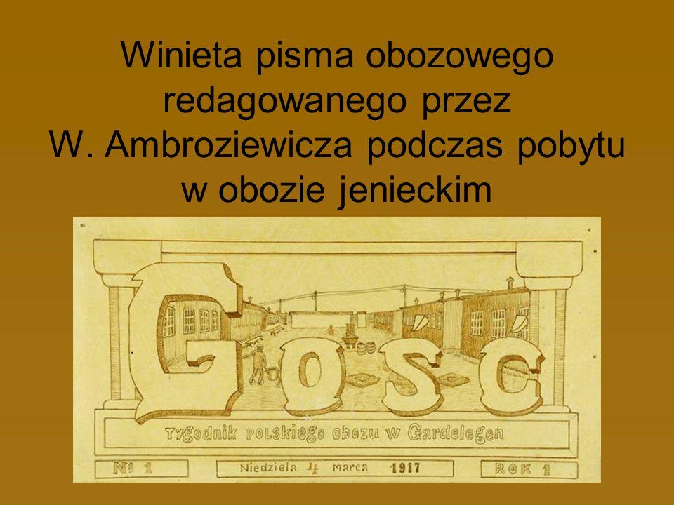 Winieta pisma obozowego redagowanego przez W. Ambroziewicza podczas pobytu w obozie jenieckim