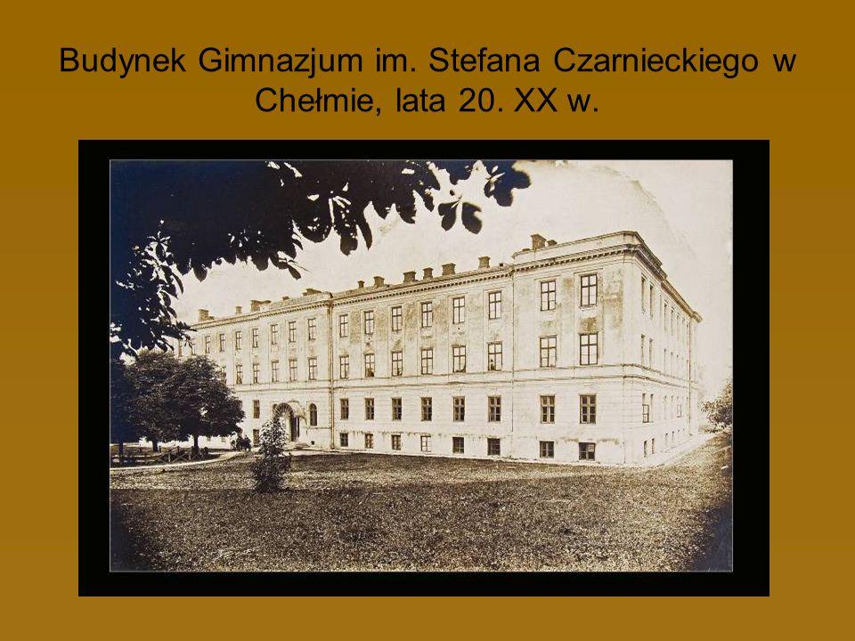 Budynek Gimnazjum im. Stefana Czarnieckiego w Chełmie, lata 20. XX w.
