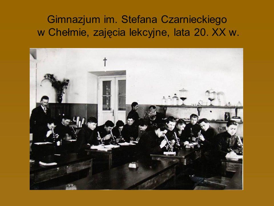 Gimnazjum im. Stefana Czarnieckiego w Chełmie, zajęcia lekcyjne, lata 20. XX w.