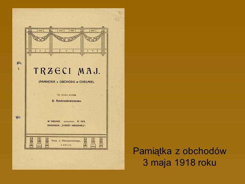 Pamiątka z obchodów 3 maja 1918 roku