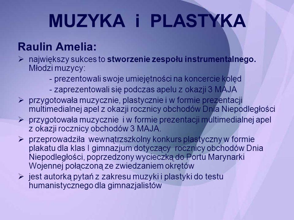 Raulin Amelia: największy sukces to stworzenie zespołu instrumentalnego. Młodzi muzycy: - prezentowali swoje umiejętności na koncercie kolęd - zapreze