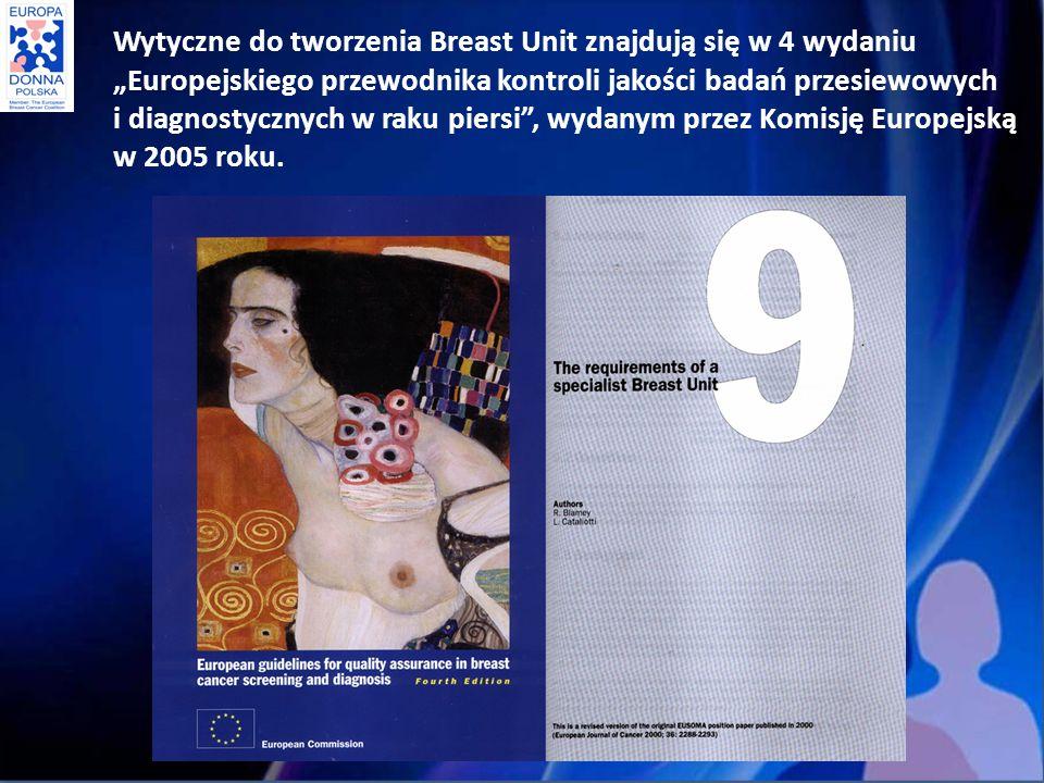 Wytyczne do tworzenia Breast Unit znajdują się w 4 wydaniu Europejskiego przewodnika kontroli jakości badań przesiewowych i diagnostycznych w raku piersi, wydanym przez Komisję Europejską w 2005 roku.