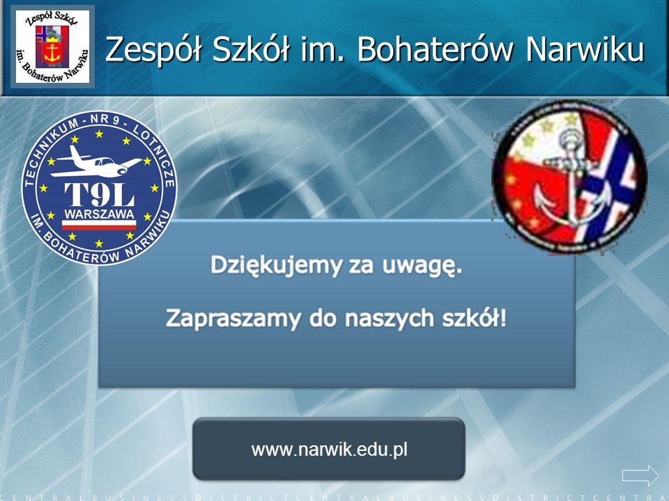 Zespół Szkół im. Bohaterów Narwiku www.narwik.edu.pl