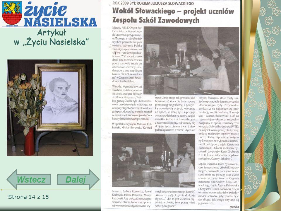 Strona 14 z 15 Artykuł w Życiu Nasielska DalejWstecz