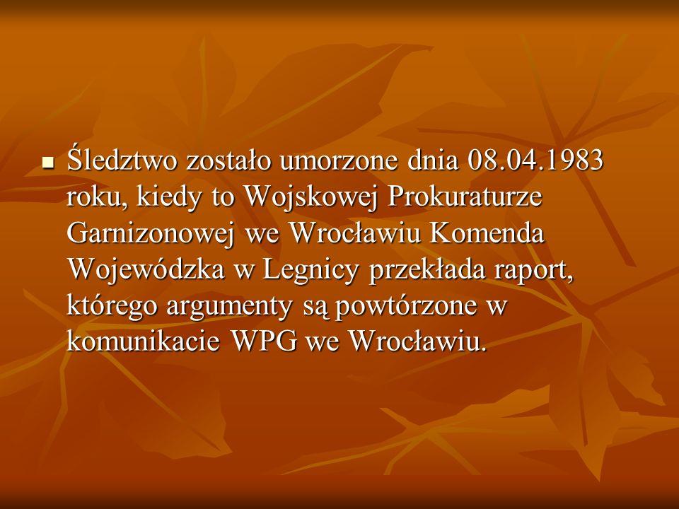 Na skutek postrzałów rykoszetowych dwie osoby: Andrzej Trajkowski i Mieczysław Poźniak ponieśli śmierć. Po pięciu dniach, w następstwie odniesionych r