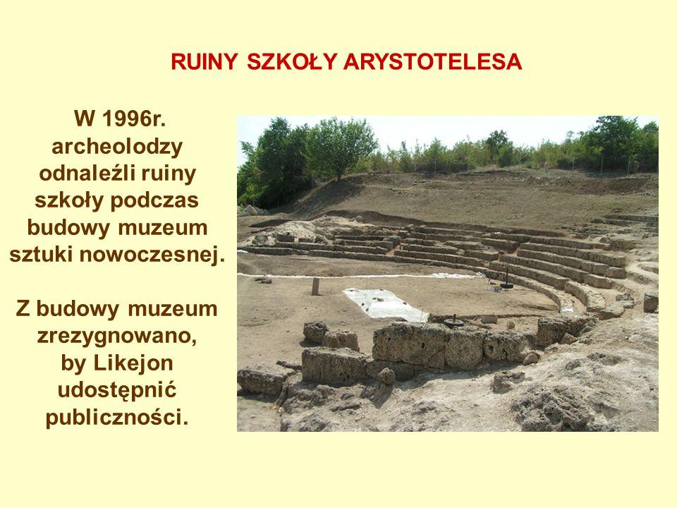 W 1996r. archeolodzy odnaleźli ruiny szkoły podczas budowy muzeum sztuki nowoczesnej. Z budowy muzeum zrezygnowano, by Likejon udostępnić publiczności