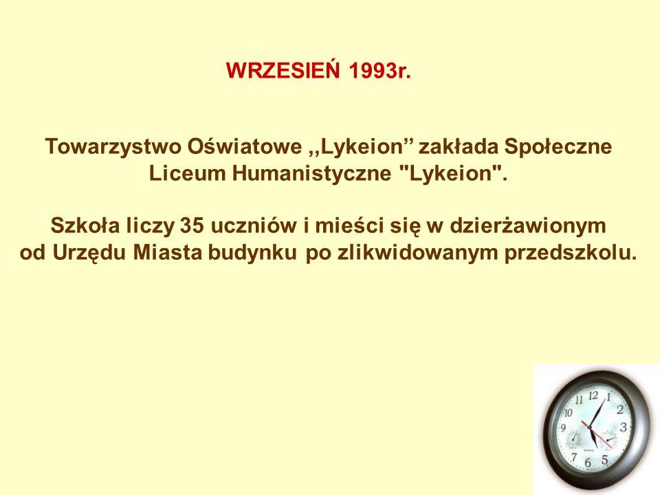Towarzystwo Oświatowe,,Lykeion zakłada Społeczne Liceum Humanistyczne