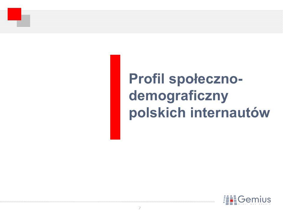 7 Profil społeczno- demograficzny polskich internautów