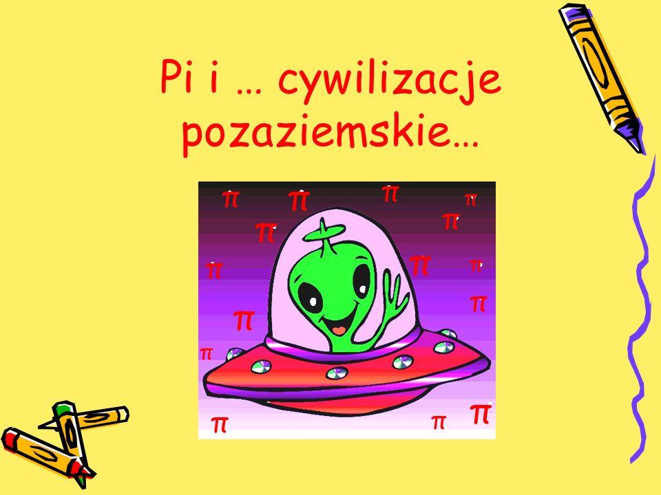 Pi i … cywilizacje pozaziemskie… π π π π π π π π π π π π π π π