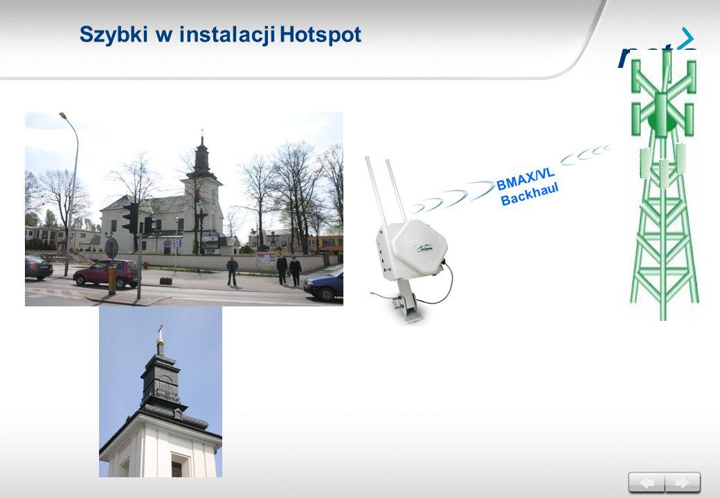 BMAX/VL Backhaul Szybki w instalacji Hotspot