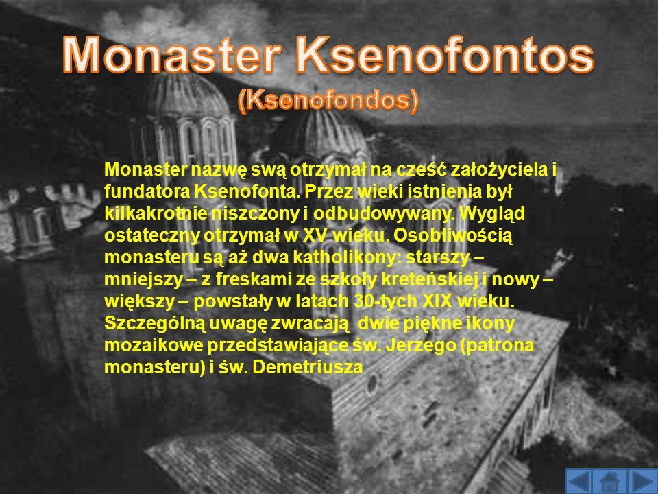Monaster nazwę swą otrzymał na cześć założyciela i fundatora Ksenofonta. Przez wieki istnienia był kilkakrotnie niszczony i odbudowywany. Wygląd ostat