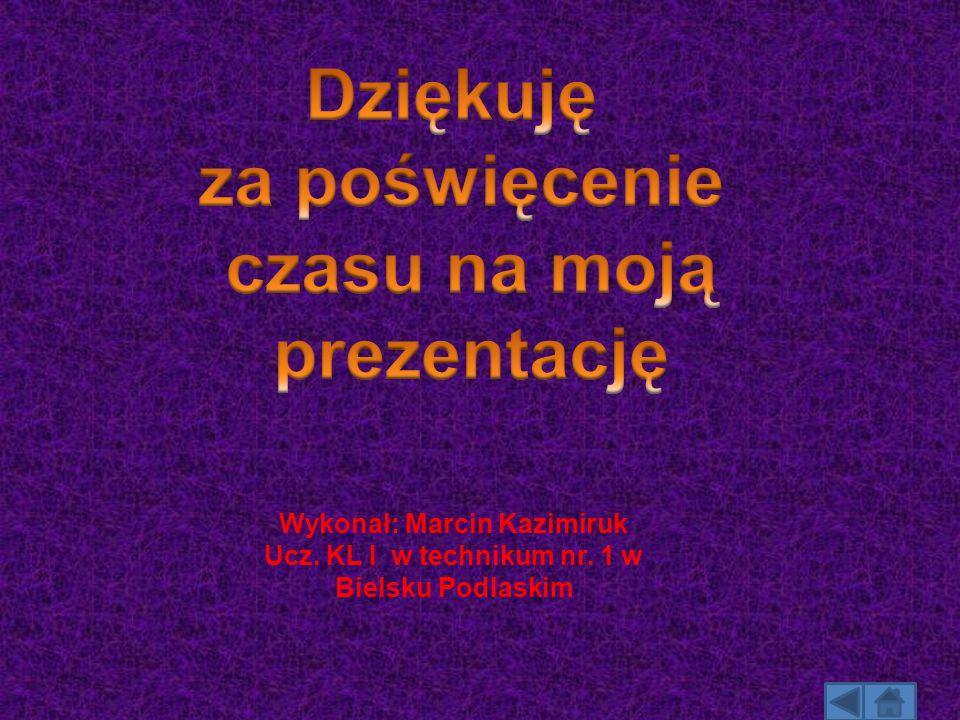 Wykonał: Marcin Kazimiruk Ucz. KL I w technikum nr. 1 w Bielsku Podlaskim