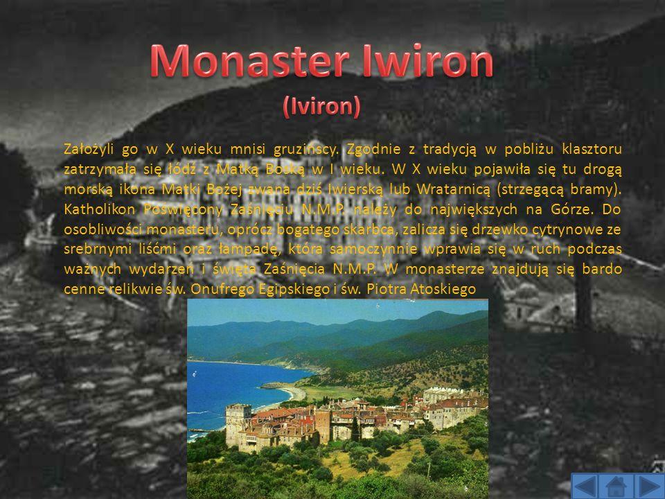 Założyli go w X wieku mnisi gruzińscy. Zgodnie z tradycją w pobliżu klasztoru zatrzymała się łódź z Matką Boską w I wieku. W X wieku pojawiła się tu d