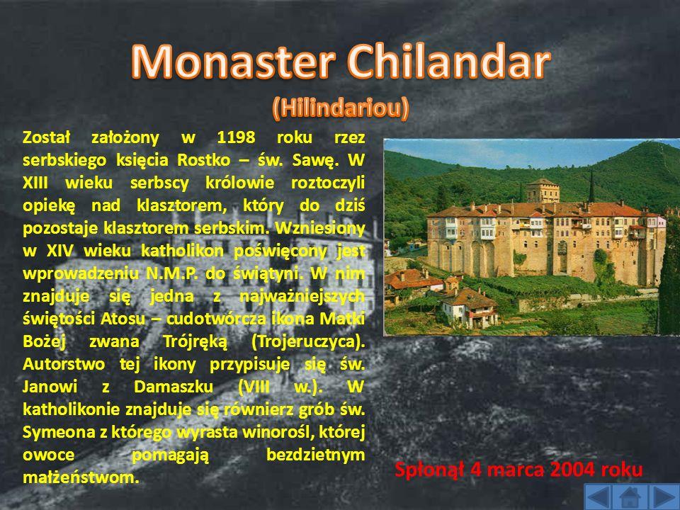 Został założony w 1198 roku rzez serbskiego księcia Rostko – św. Sawę. W XIII wieku serbscy królowie roztoczyli opiekę nad klasztorem, który do dziś p
