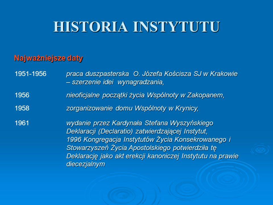 HISTORIA INSTYTUTU praca duszpasterska O. Józefa Kościsza SJ w Krakowie – szerzenie idei wynagradzania, 1951-1956 nieoficjalne początki życia Wspólnot