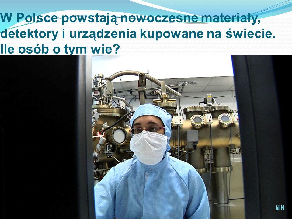 W Polsce powstają nowoczesne materiały, detektory i urządzenia kupowane na świecie. Ile osób o tym wie? WN