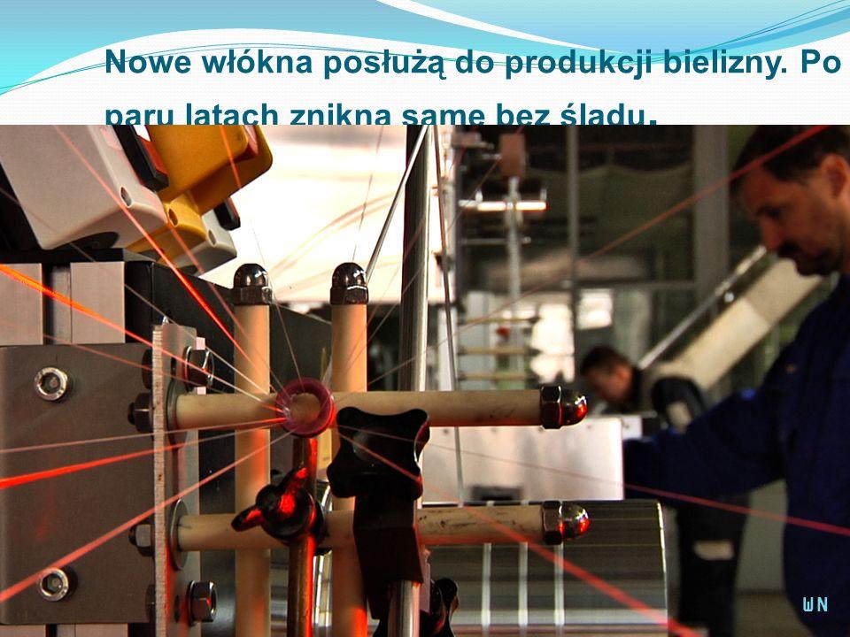 Nowe włókna posłużą do produkcji bielizny. Po paru latach znikną same bez śladu. WN