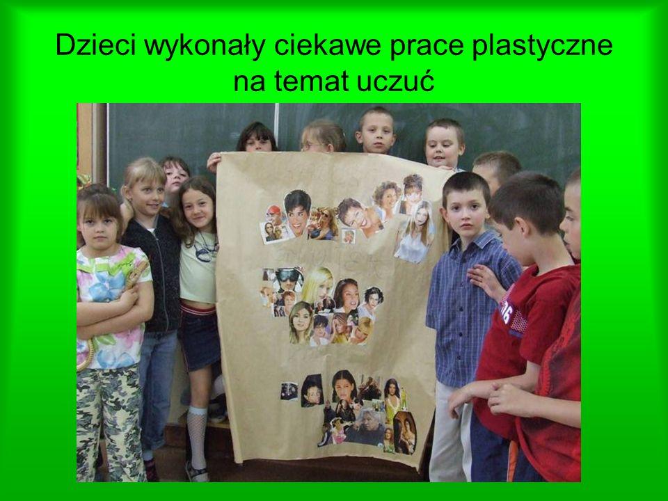 Dzieci wykonały ciekawe prace plastyczne na temat uczuć