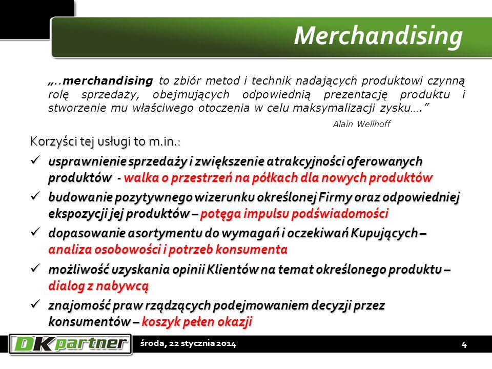 Merchandising..merchandising to zbiór metod i technik nadających produktowi czynną rolę sprzedaży, obejmujących odpowiednią prezentację produktu i stw