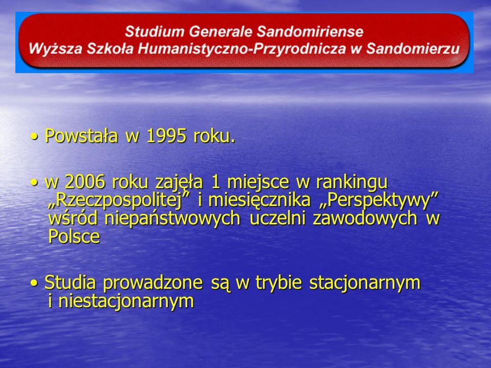 W 2006 roku zajęła I miejsce w rankingu Rzeczpospolitej miesięcznika Perspektywy wśród niepaństwowych uczelni zawodowych w Polsce