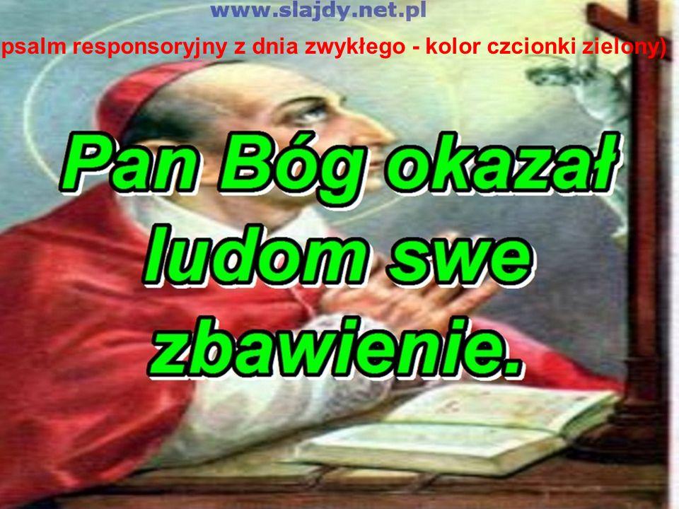 (psalm responsoryjny z dnia zwykłego - kolor czcionki zielony)