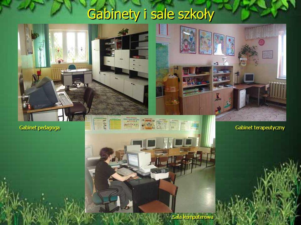 Sale i pomieszczenia szkoły Sala językowa Stołówka Świetlica Sala gimnastyczna
