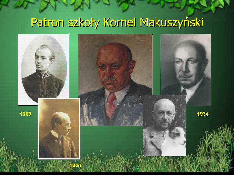 Patron szkoły Kornel Makuszyński 1903 1905 1934