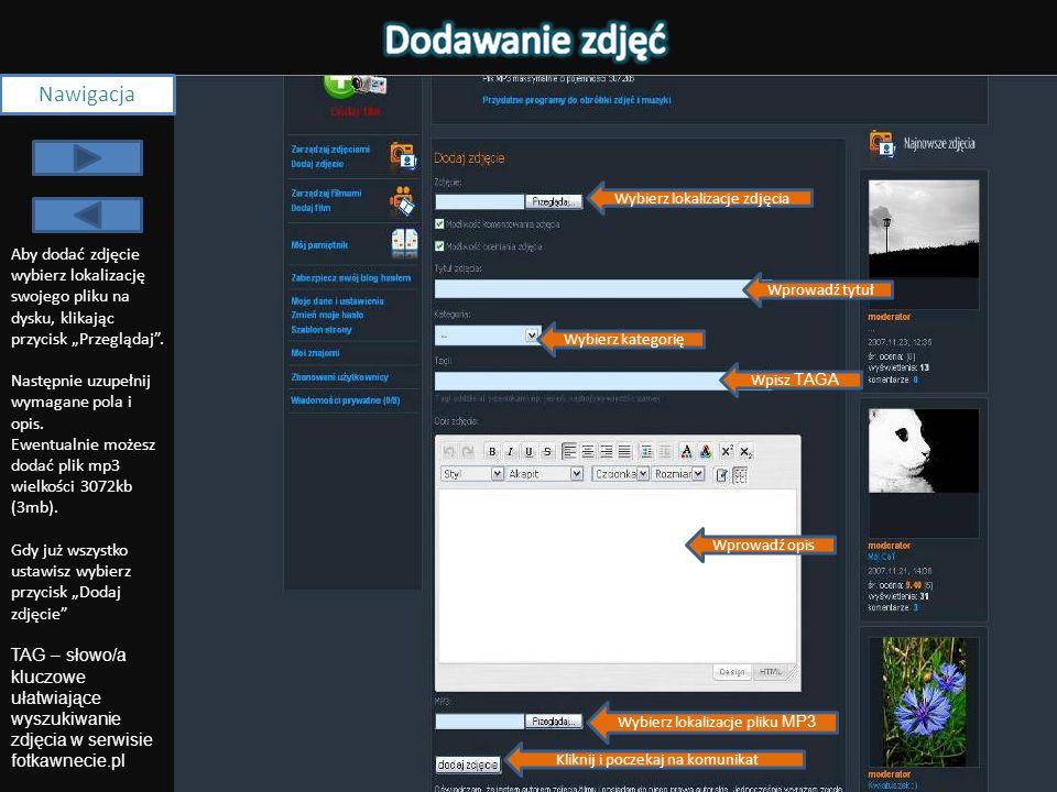 Dan e EXI F Nawigacja Serwis fotkawnecie.pl umożliwia ocenę i komentowanie zdjęć użytkowników.