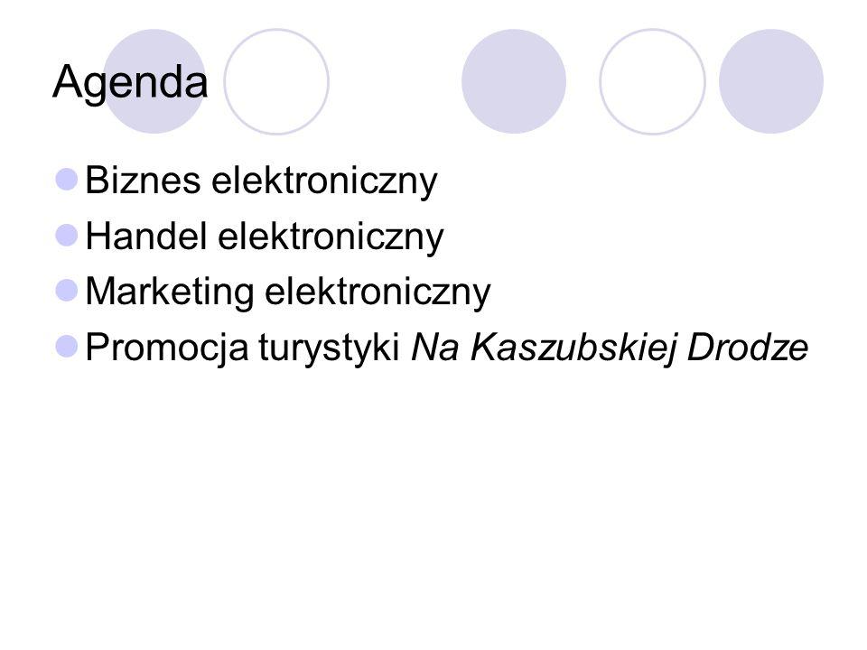 Biznes elektroniczny obejmuje wszelkie przejawy komercyjnego wykorzystania ICT ( Information and communication technologies) komponenty biznesu elektronicznego e-commerce szeroko pojętą komunikację e-services (wsparcie w biznesie)