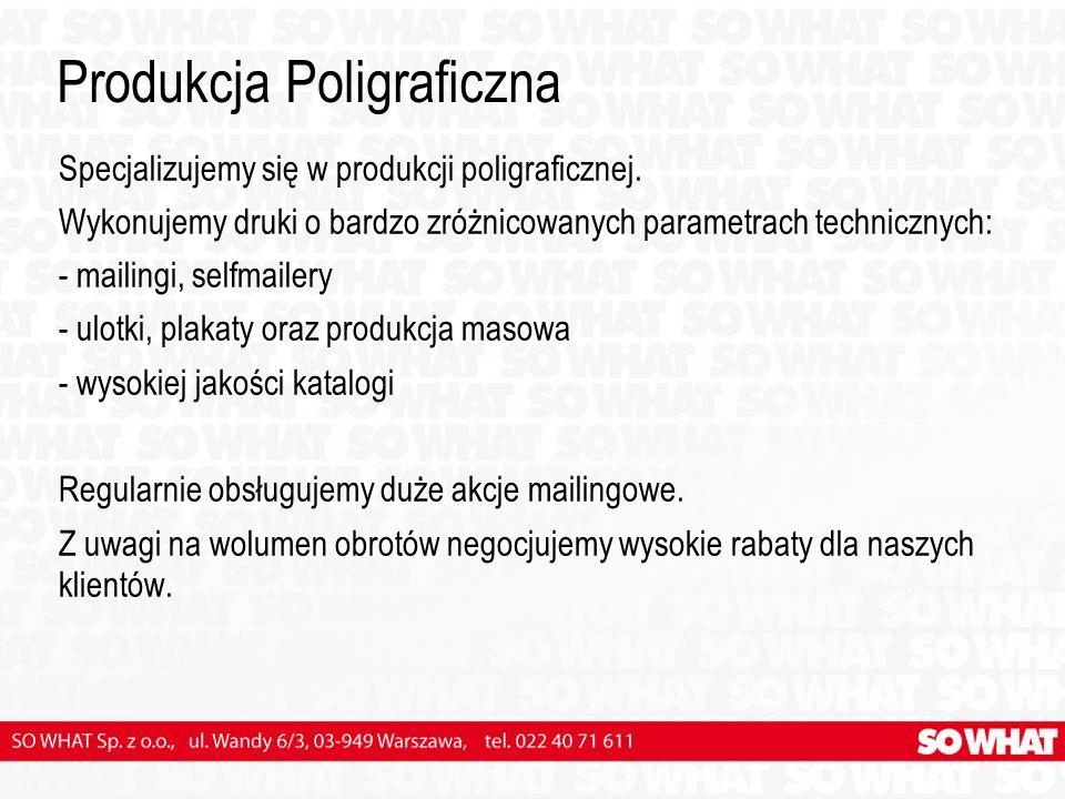 Produkcja Poligraficzna Specjalizujemy się w produkcji poligraficznej.