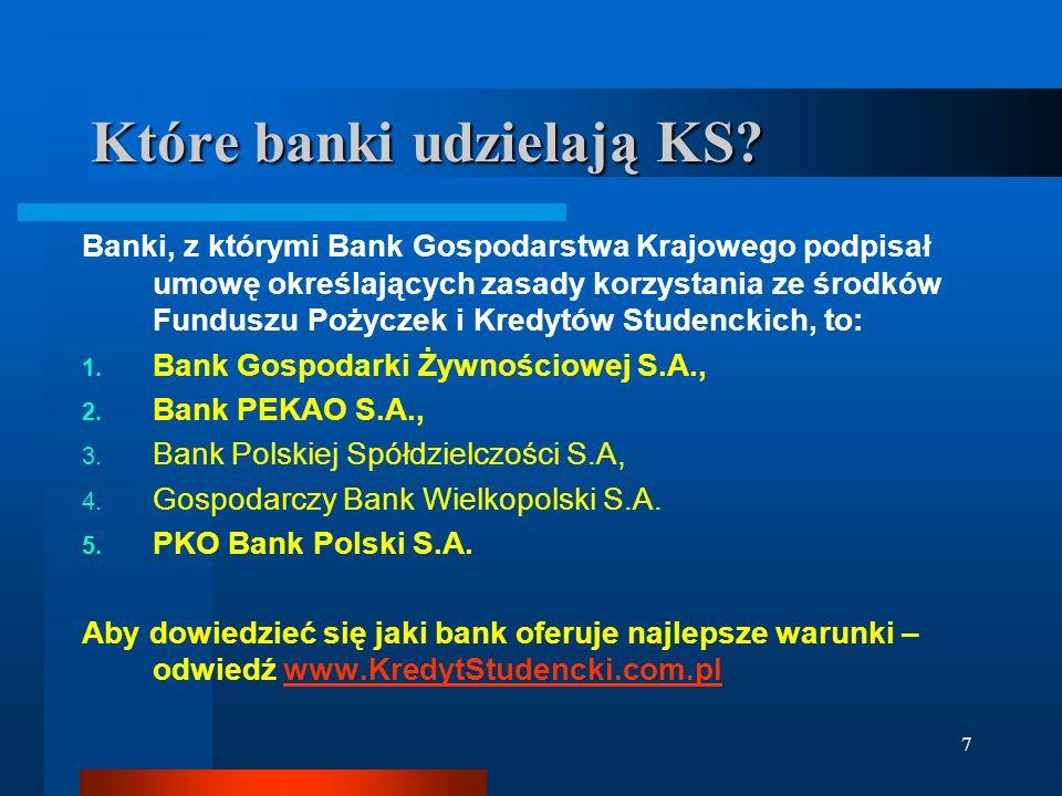 7 Które banki udzielają KS.