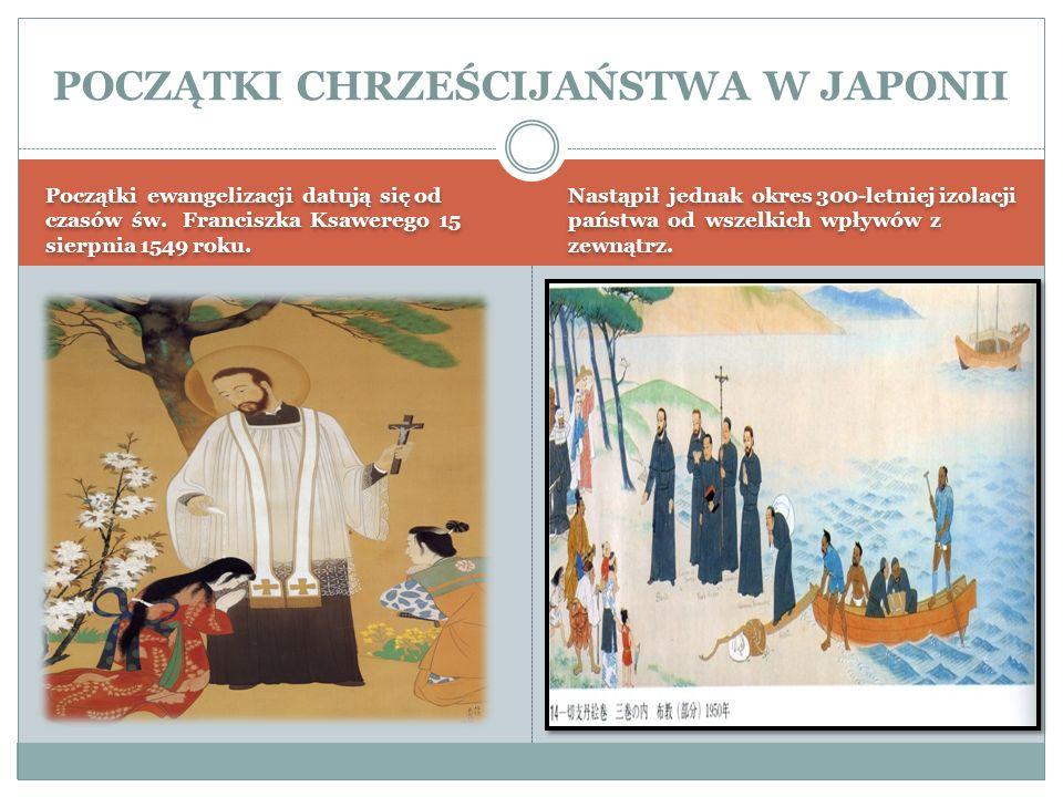 Początki ewangelizacji datują się od czasów św. Franciszka Ksawerego 15 sierpnia 1549 roku. Nastąpił jednak okres 300-letniej izolacji państwa od wsze