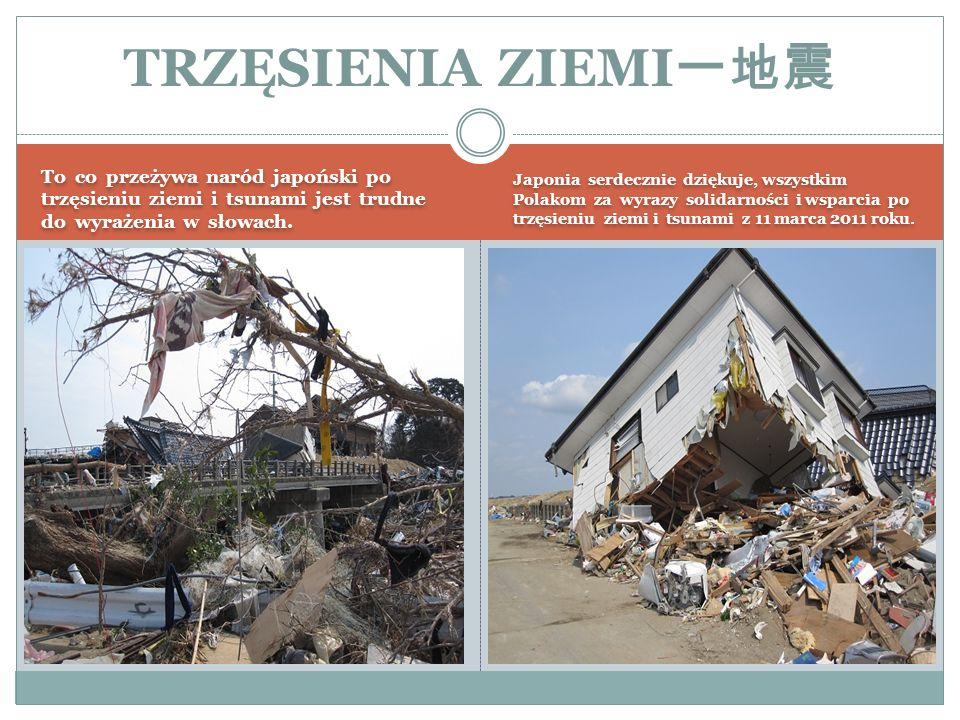 To co przeżywa naród japoński po trzęsieniu ziemi i tsunami jest trudne do wyrażenia w słowach. Japonia serdecznie dziękuje, wszystkim Polakom za wyra