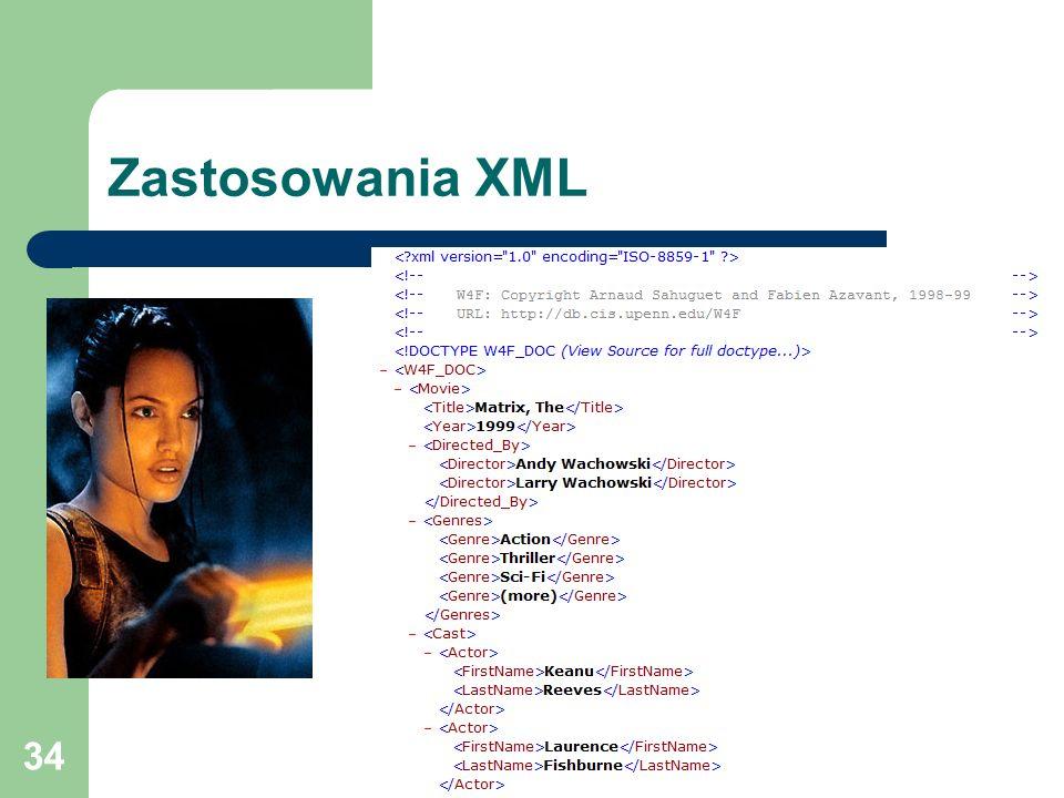 34 Zastosowania XML