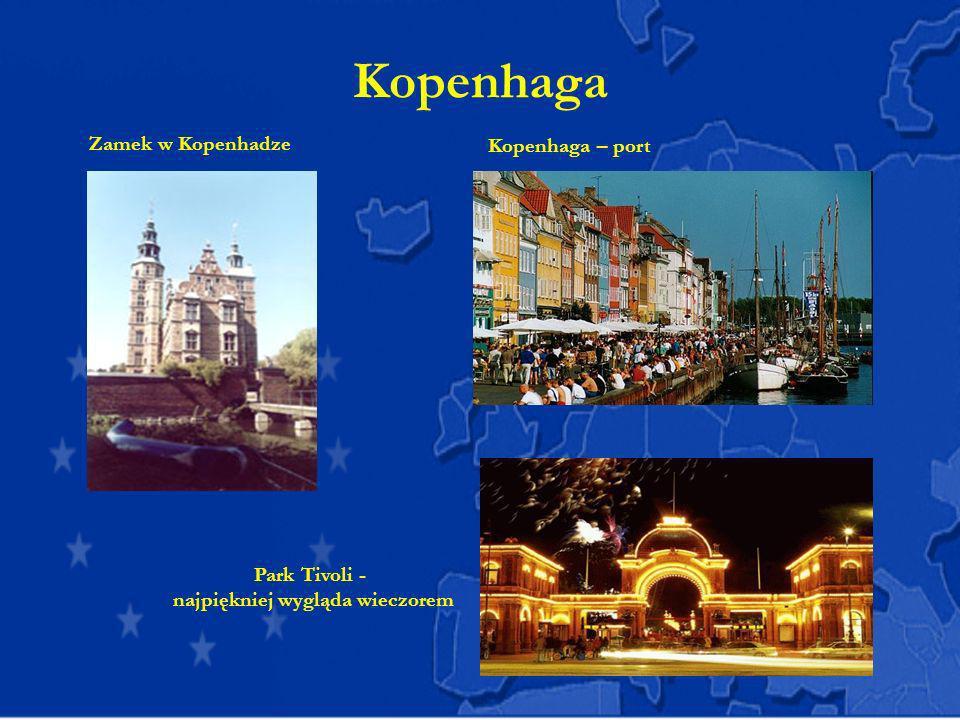 Kopenhaga Kopenhaga – port Zamek w Kopenhadze Park Tivoli - najpiękniej wygląda wieczorem
