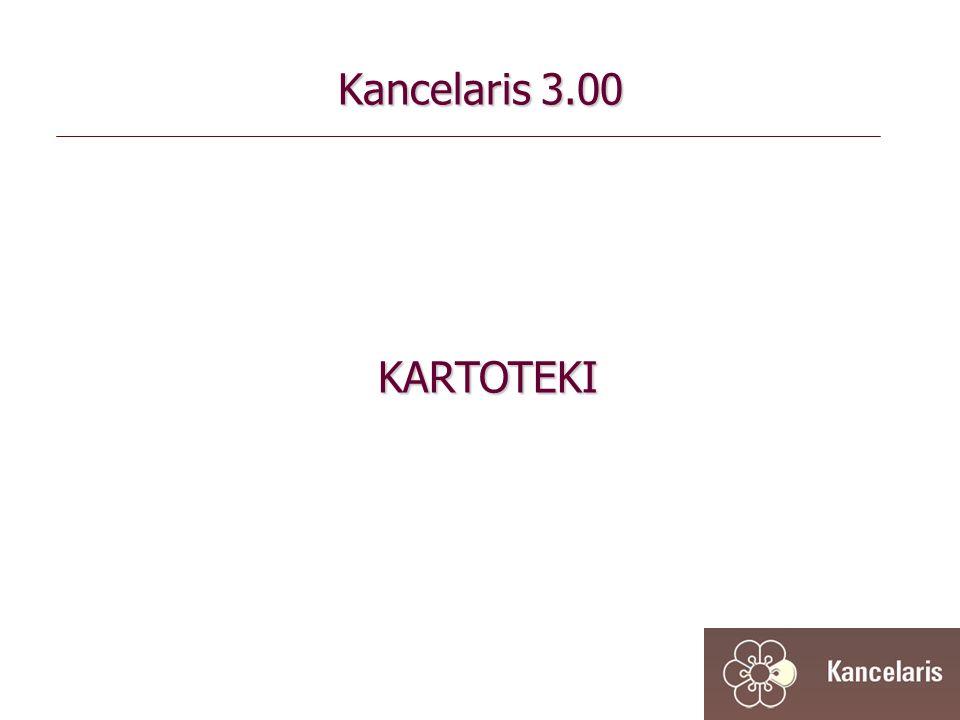 Kancelaris 3.00 KARTOTEKI