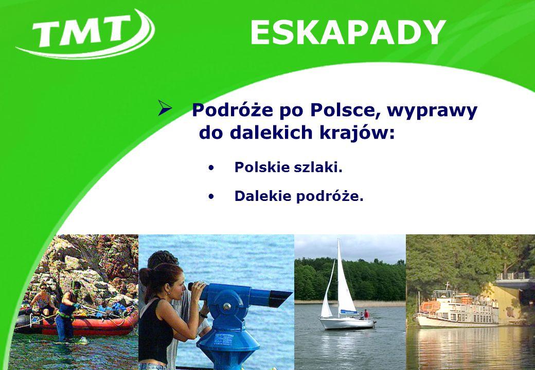 ESKAPADY Podróże po Polsce, wyprawy do dalekich krajów: Polskie szlaki. Dalekie podróże.