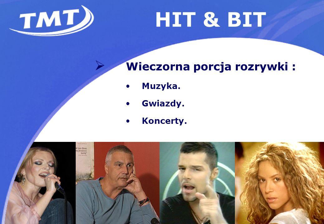 HIT & BIT Wieczorna porcja rozrywki : Muzyka. Gwiazdy. Koncerty.