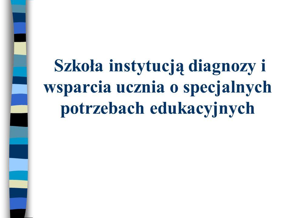 Szkoła instytucją diagnozy i wsparcia ucznia o specjalnych potrzebach edukacyjnych