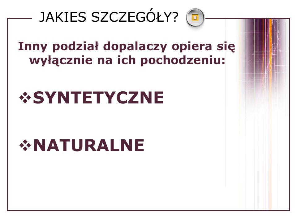 SYNTETYCZNE BZP – stymulant ośrodkowego układu nerwowego o działaniu zbliżonym do amfetaminy, występuje jako biały proszek w tabletkach lub kapsułkach.