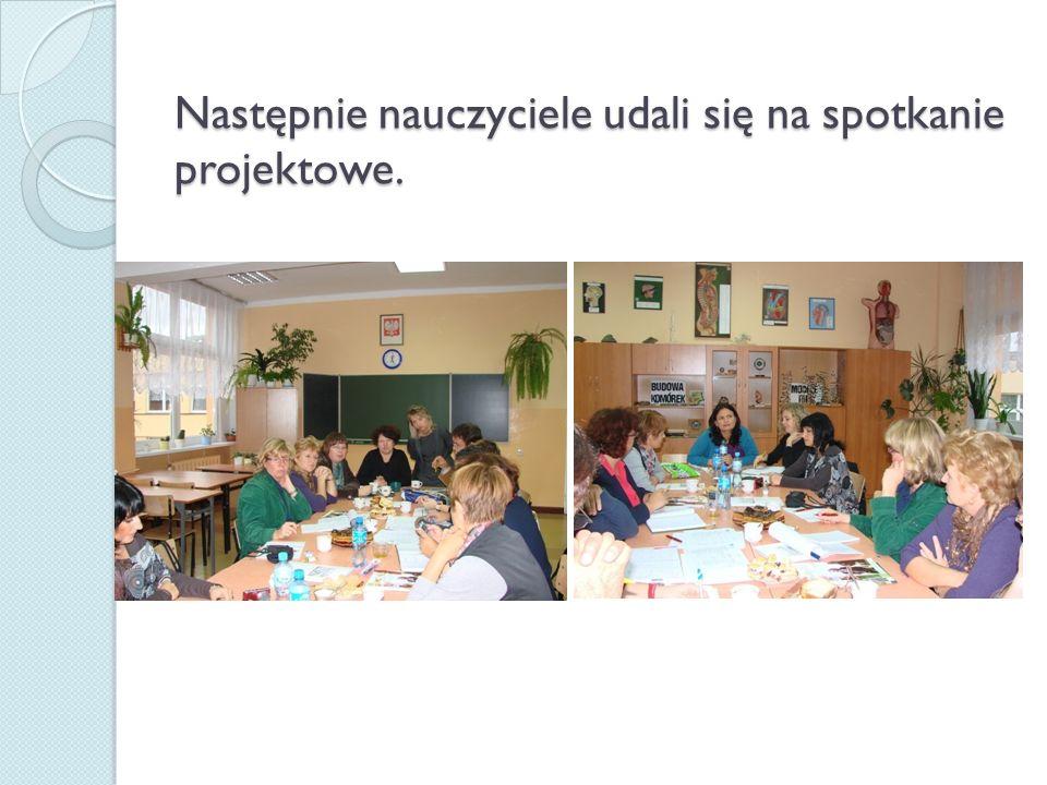 Nasi goście uczestniczyli również w akademii z okazji Dnia Nauczyciela, na której był również obecny pan burmistrz Krzysztof Obratański.