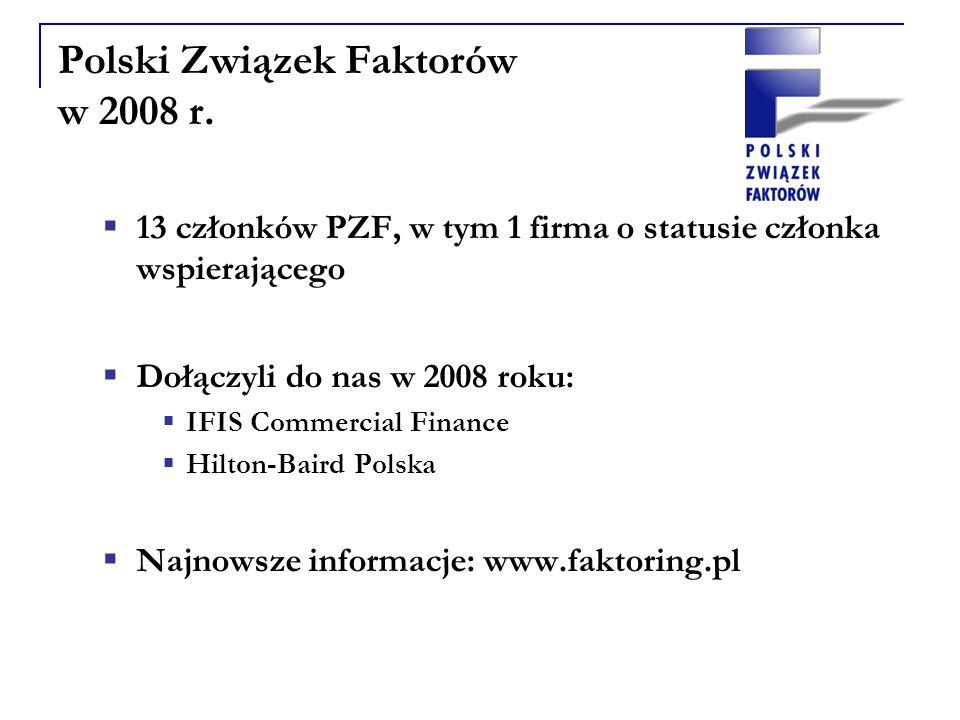 Polski Związek Faktorów w 2008 r.