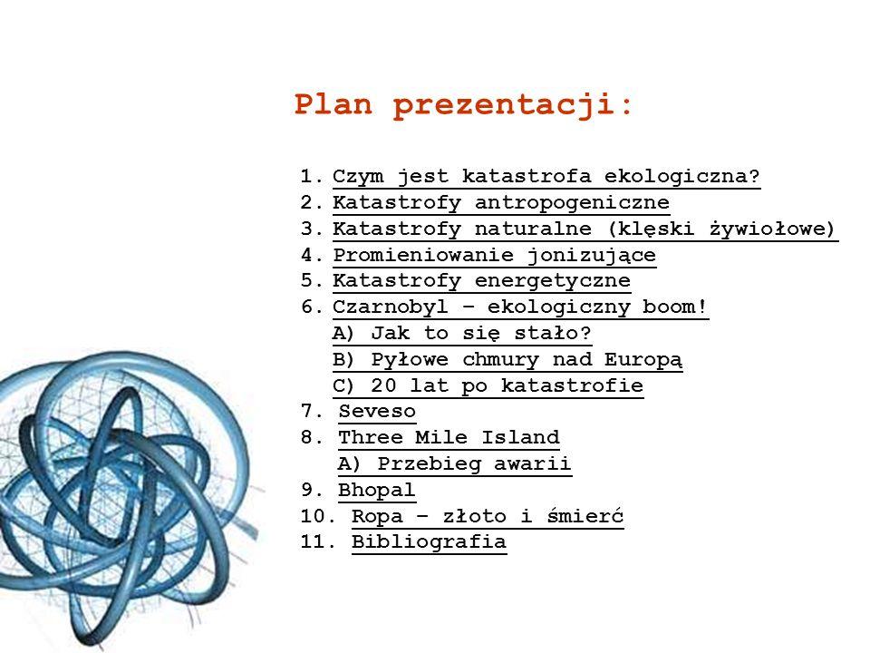 Plan prezentacji: 1.Czym jest katastrofa ekologiczna?Czym jest katastrofa ekologiczna? 2.Katastrofy antropogeniczneKatastrofy antropogeniczne 3.Katast