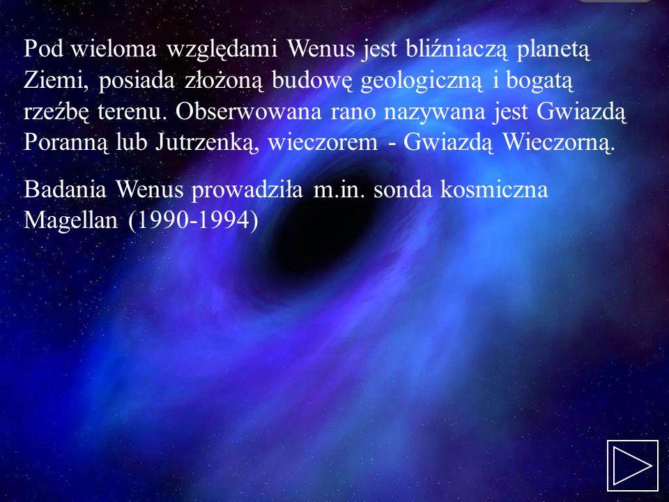 Pod wieloma względami Wenus jest bliźniaczą planetą Ziemi, posiada złożoną budowę geologiczną i bogatą rzeźbę terenu. Obserwowana rano nazywana jest G