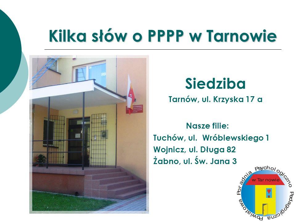 Kilka słów o PPPP w Tarnowie Siedziba Tarnów, ul.Krzyska 17 a Nasze filie: Tuchów, ul.