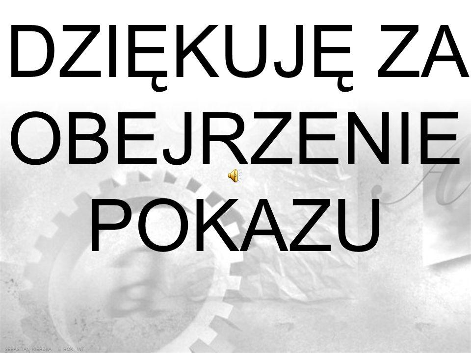 SEBASTIAN KIERZKA iii ROK WT 9. PRZYKŁADOWY BANER WYKONANY NA KILKU WARSTWACH TłoWarstwa 1 Warstwa 2