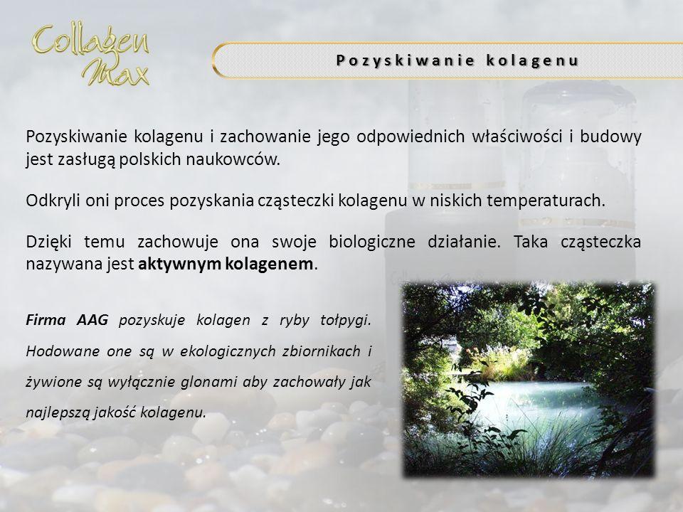 Firma AAG pozyskuje kolagen z ryby tołpygi. Hodowane one są w ekologicznych zbiornikach i żywione są wyłącznie glonami aby zachowały jak najlepszą jak