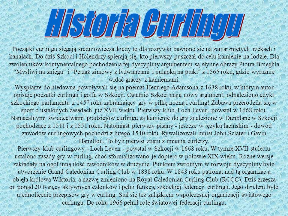 W XIX wieku, w dobie intensywnego rozwoju sportu, curling stał się bardzo popularnym sposobem rekreacji.