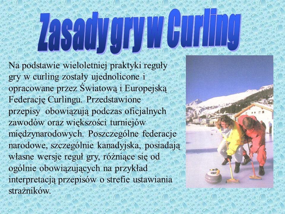Pole gry Tor do gry w curling ma kształt prostokąta o szerokości od 4.42 do 4.75 metra i długości około 44.5 metra.
