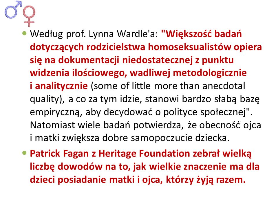 Według prof. Lynna Wardle'a: